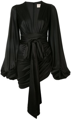 Alexandre Vauthier V-neck plunge mini dress