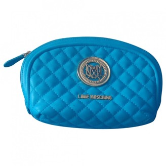 Moschino Blue Synthetic Purses, wallets & cases