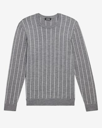 Express Striped Merino Wool-Blend Crew Neck Sweater