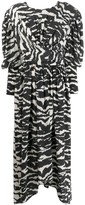 Isabel Marant Filao zebra-print twisted-waist dress