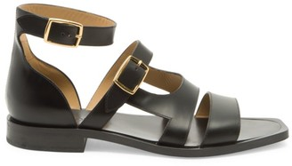Fendi Vitello Spazzolato Leather Sandals