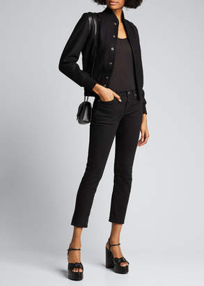 Saint Laurent Teddy Fleece Varsity Jacket
