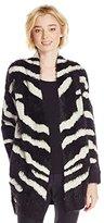 XOXO Junior's Zebra Eyelash Coverup Sweater Cardigan