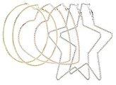 Charlotte Russe Textured Mixed Metal Hoop Earrings - 3 Pack