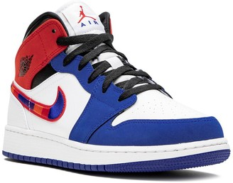 Nike Kids Air Jordan 1 Mid SE (GS) multicolor swoosh