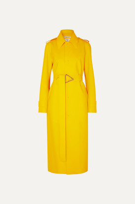 Bottega Veneta Pu Trench Coat - Yellow