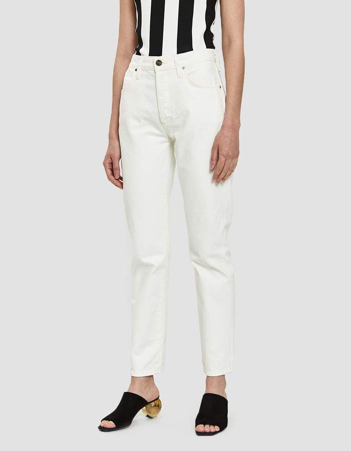 Gold Sign Benefit Straight Leg Jean in Pearl