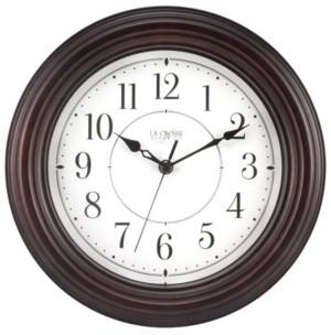 "La Crosse Technology La Crosse Clock 404-2630W 12"" Evelyn Quartz Wall Clock with Silent Movement"