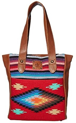 STS Ranchwear Fiesta Serape Tote (Royal Blue/Black/Red) Bags