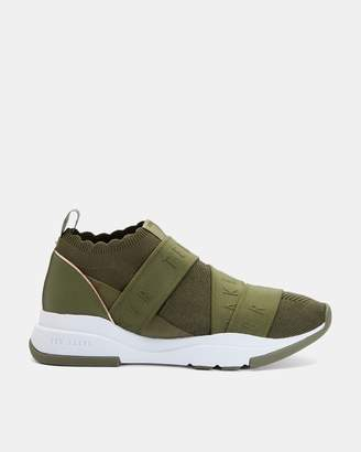 Ted Baker Elastic Strap Running Trainers