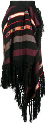 Etro Striped Wrapped Skirt