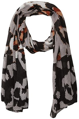 Steve Madden Oversized Leopard Pleated Day Wrap (Blush) Scarves