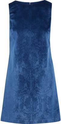 Alice + Olivia Clyde Printed Velvet Mini Dress