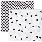 Petit Lem Essentials Two-Piece Geometric and Chevron-Print Swaddle Blanket Set