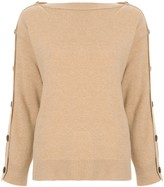 System buttoned long sleeve jumper