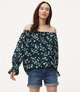 LOFT Fleur Ruffle Cuff Off The Shoulder Blouse
