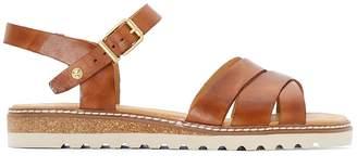 PIKOLINOS Alcudia W1L Leather Cross Strap Sandals
