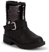 Nicole Miller Little Girl's Faux Fur-Lined Sequin Buckle Boots