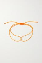 Thumbnail for your product : Octavia Elizabeth + Net Sustain Parachute Nesting Gem 18-karat Recycled Gold, Diamond And Cord Bracelet - Orange
