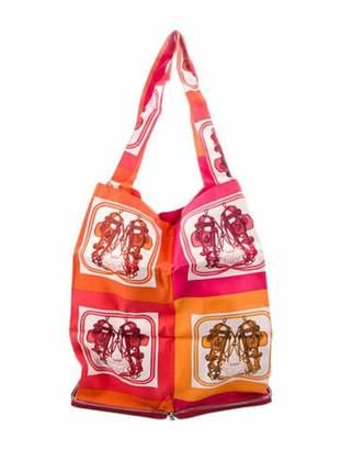 Hermes Brides de Gala Silky Pop Tote Orange