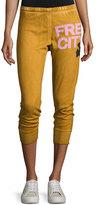 Freecity Three-Quarter Cotton Jogger Pants, Orange