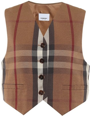 Burberry Checked waistcoat