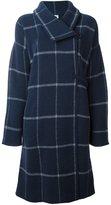 Armani Collezioni checked single breasted coat