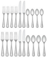 Lenox Vintage Jewel 20-Piece Frosted Stainless Steel Flatware Set