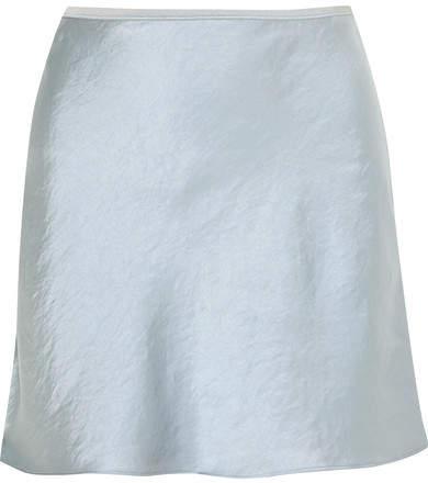 Alexander Wang Crinkled-satin Mini Skirt - Light blue
