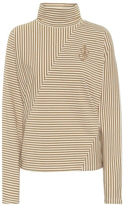 J.W.Anderson Striped stretch-cotton mock-neck top