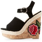 Charlotte Russe Patch Cork Wedge Sandals