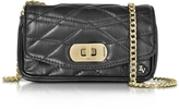 Zadig & Voltaire Black Quilted Leather Skinny Love Clutch