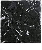 Valentino Garavani Valentino panther print scarf - men - Silk/Modal/Cashmere - One Size