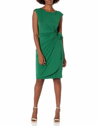 Lark & Ro Amazon Brand Women's Women's Cap Sleeve Bateau Neck Wrap Dress