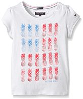 Tommy Hilfiger Baby-Girls Flag Mini Cn Knit Plain Short Sleeve T-Shirt