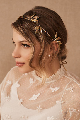 Anthropologie Twigs & Honey Myrina Halo By in Gold Size ALL