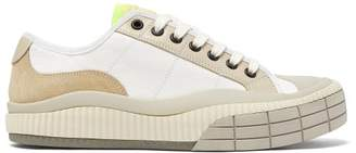 Chloé Clint Rubber-sole Canvas Trainers - Womens - Yellow White