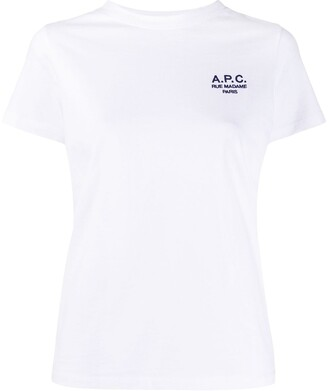 A.P.C. embroidered logo short sleeve T-shirt