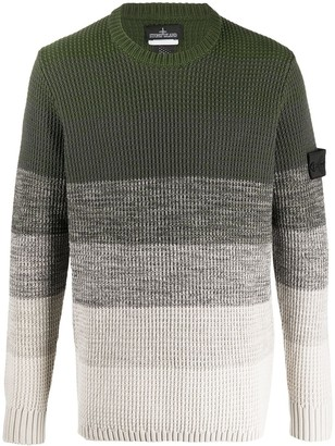 Stone Island Shadow Project knitted colour blocked jumper