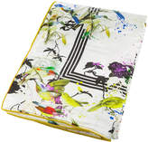Roberto Cavalli Bird Ramage Silk Throw - White - 130x180cm