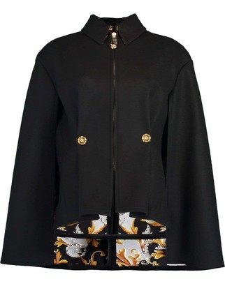 Versace Baroque Print Lined Fitted Cape