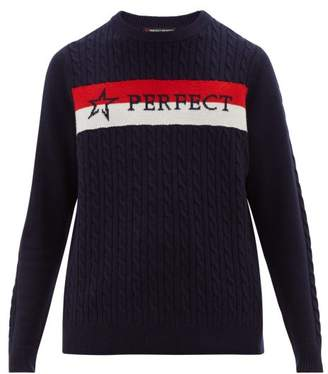 Perfect Moment Super Stripes Merino-wool Sweater - Mens - Navy