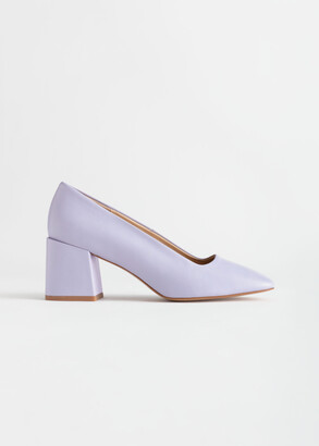 And other stories Suede Block Heeled Pumps