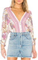 Free People Patterned Button-Front Blouse