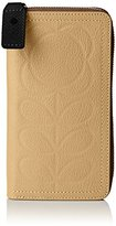 Orla Kiely Embossed Flower Leather Big Zip Purse Wallet