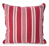 Lexington Seaside Ticking Red/White Cushion Cover - 65x65cm