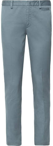 Prada Slim-Fit Stretch-Cotton Twill Chinos