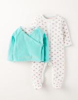Boden Sleepsuit & Velour Jacket Set