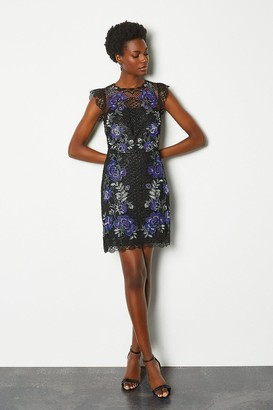 Karen Millen Floral Lace Mini Dress