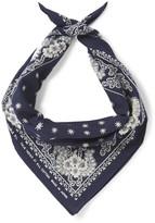 RRL Indigo-Dyed Floral-Print Cotton Bandana